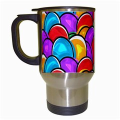 Colored Easter Eggs Travel Mug (White)