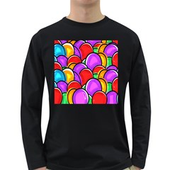 Colored Easter Eggs Men s Long Sleeve T Shirt (dark Colored)