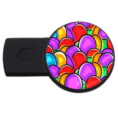Colored Easter Eggs 4gb Usb Flash Drive (round)