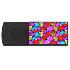 Colored Easter Eggs 4GB USB Flash Drive (Rectangle)