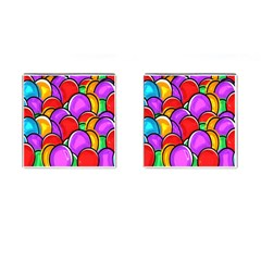 Colored Easter Eggs Cufflinks (Square)