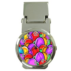 Colored Easter Eggs Money Clip with Watch