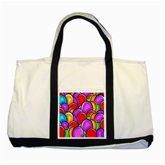 Colored Easter Eggs Two Toned Tote Bag