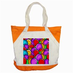 Colored Easter Eggs Accent Tote Bag