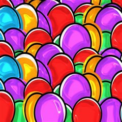 Colored Easter Eggs Canvas 12  x 12  (Unframed)