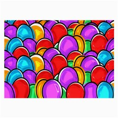 Colored Easter Eggs Glasses Cloth (large, Two Sided)