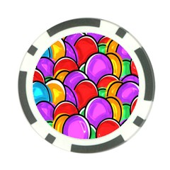 Colored Easter Eggs Poker Chip