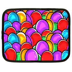Colored Easter Eggs Netbook Sleeve (large)