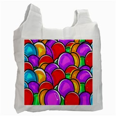 Colored Easter Eggs White Reusable Bag (two Sides)