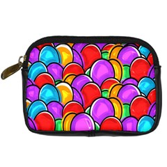 Colored Easter Eggs Digital Camera Leather Case