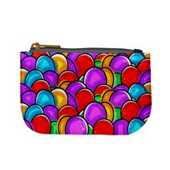 Colored Easter Eggs Coin Change Purse