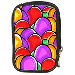 Colored Easter Eggs Compact Camera Leather Case