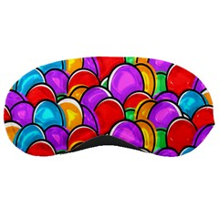 Colored Easter Eggs Sleeping Mask