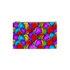 Colored Easter Eggs Cosmetic Bag (Small)