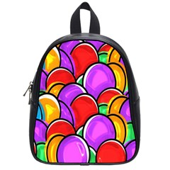 Colored Easter Eggs School Bag (small)