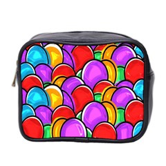 Colored Easter Eggs Mini Travel Toiletry Bag (Two Sides)