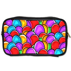 Colored Easter Eggs Travel Toiletry Bag (Two Sides)
