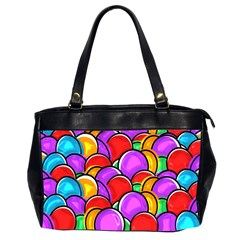 Colored Easter Eggs Oversize Office Handbag (two Sides)