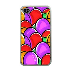 Colored Easter Eggs Apple Iphone 4 Case (clear)