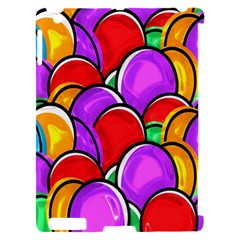 Colored Easter Eggs Apple iPad 2 Hardshell Case (Compatible with Smart Cover)
