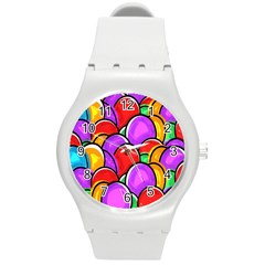 Colored Easter Eggs Plastic Sport Watch (Medium)