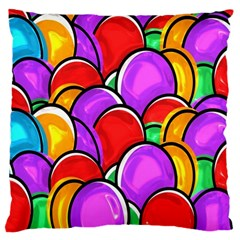 Colored Easter Eggs Large Cushion Case (two Sided)