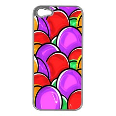 Colored Easter Eggs Apple iPhone 5 Case (Silver)