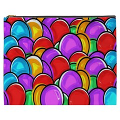 Colored Easter Eggs Cosmetic Bag (XXXL)