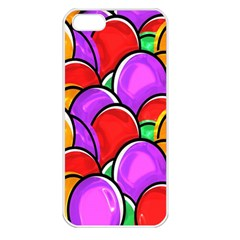 Colored Easter Eggs Apple Iphone 5 Seamless Case (white)