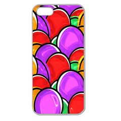 Colored Easter Eggs Apple Seamless iPhone 5 Case (Clear)