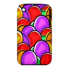 Colored Easter Eggs Apple Iphone 3g/3gs Hardshell Case (pc+silicone)