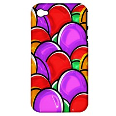 Colored Easter Eggs Apple Iphone 4/4s Hardshell Case (pc+silicone)