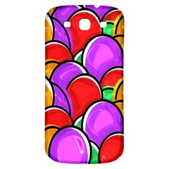 Colored Easter Eggs Samsung Galaxy S3 S III Classic Hardshell Back Case
