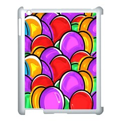 Colored Easter Eggs Apple iPad 3/4 Case (White)