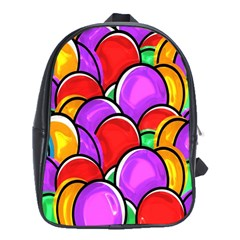 Colored Easter Eggs School Bag (XL)