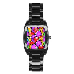 Colored Easter Eggs Stainless Steel Barrel Watch