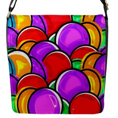 Colored Easter Eggs Flap Closure Messenger Bag (Small)