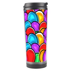 Colored Easter Eggs Travel Tumbler