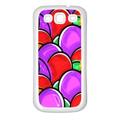Colored Easter Eggs Samsung Galaxy S3 Back Case (white)