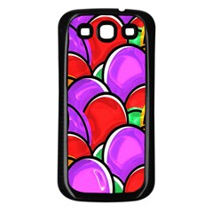 Colored Easter Eggs Samsung Galaxy S3 Back Case (Black)
