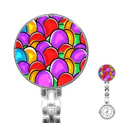 Colored Easter Eggs Stainless Steel Nurses Watch