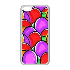 Colored Easter Eggs Apple Iphone 5c Seamless Case (white)