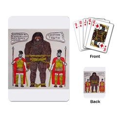 Big Foot & Romans Playing Cards Single Design