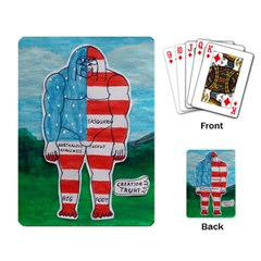 Painted Flag Big Foot Aust Playing Cards Single Design