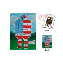 Painted Flag Big Foot Aust Playing Cards (Mini)