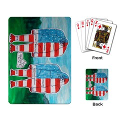 2 Painted U,s,a,flag Big Foots Playing Cards Single Design