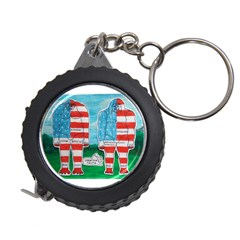 2 Painted U,s,a,flag Big Foots Measuring Tape