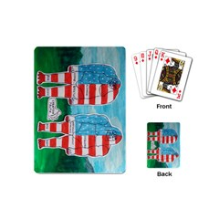 2 Painted U,s,a,flag Big Foots Playing Cards (Mini)