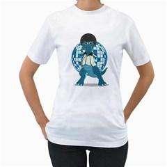 Discosaurs Women s T Shirt (white)