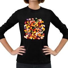 Jelly Bean Shirt Women s Long Sleeve T-shirt (Dark Colored)